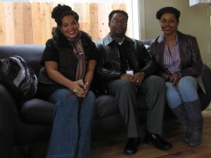 Shelly Fullwiley, Charles Funches and Homeowner Rachel Allen