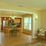 Kitchen, Living and Dining Rooms