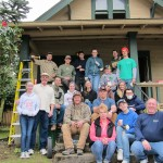 23 The volunteer crew with Parr Lumber's staff (and grill crew)