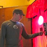 20 Andrew (of Green Hammer) performs the blower door test