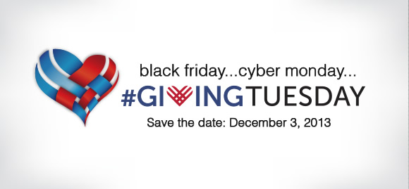giving tuesday logo white