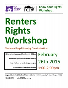 Know your rightsworkshop FHC 2-26-15