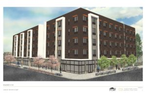 Conceptual Rendering of Development at Grant Warehouse site (c) Carleton Hart Architecture