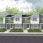 Three new townhomes are being developed