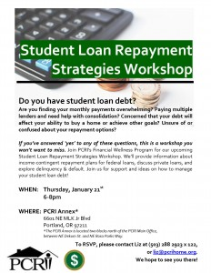 Student Loan Repayment Strategies Flyer