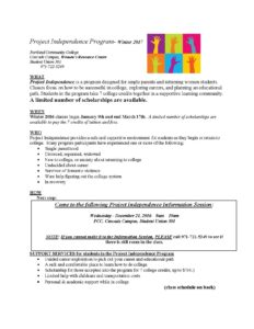 Project Independence Program - Winter2017_Updated 12_14_16_Page_1
