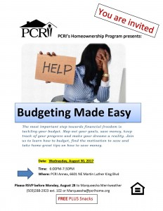 Budgeting made easy flier_083017