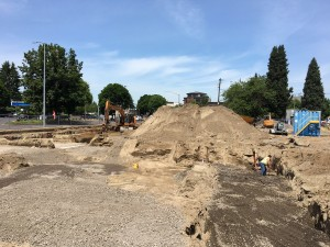 Excavation and site work begins at the Beatrice Morrow site